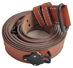 Wwii Us M1 Garand Steel Rifle M1907 Leather Carry Sling