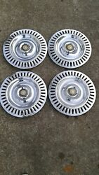 1955 1956 Chrysler Imperial Set Of 4 Hubcaps Lot Of Pictures Very Good Condition