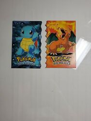 1999 Charizard Squirtle Topps Pokemon The First Movie Cards Die-cut Secret Rares