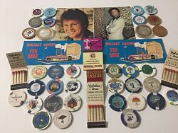 Vintage Lot Of 33  1 Casino Chips Rio And Bally's Silver Coins And Other Stuff