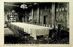 India 1912 Dining Room Of Viceregal Lodge Simla Ppc W/viceroy Camp To Forester's