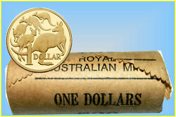 1 - 1984 'mob Of Roos.' Mint Roll Of 20 Coins