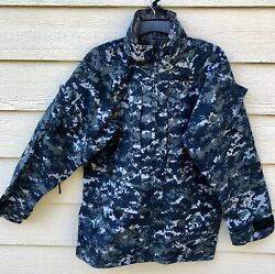 Us Navy Nwu Gore Tex Cold Weather Digital Camouflage Parka - Small Short