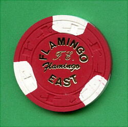 100 Vintage 1980and039s Card Room / Casino / Illegal Chips - 5.00 - Flamingo East