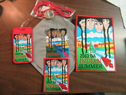 2003 Indian Summer Neckerchief, Luggage Tag, Bolo, And Patches  Oan