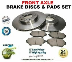 Front Axle Drilled Brake Discs And Pads Set For Bmw 3 Convertible M3 2007-2013
