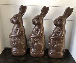 Union 3x Chocolate Bunny Rabbit Easter Blow Mold Don Featherstone Blowmold 1993