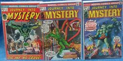 Marvel Comics Group Journey Into Mystery 1972 Series Lot 1 3 10 Horror Sci Fi