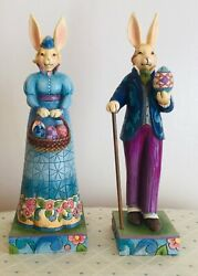 """Jim Shore """"easter Style """" Mr Rabbit And """"easter Promenade """"msbunny"""