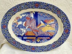 Huge Antique Vintage Imari Colors Chinese Japanese Asian Style Platter