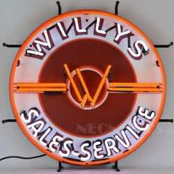 Jeep Willys Sales Service Neon Sign – 5jeepw Neon Sign  By Neonetics