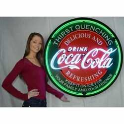 Coca-cola Evergreen Neon Sign In 36″ Steel Can – 9ccgrn By Neonetics