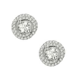 1 Ct. Tw. Round Solitaire Plus Earrings In 14k White Gold