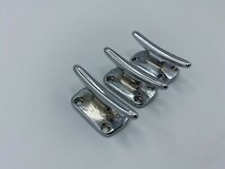 2+1/4 Inch Long Chrome Over Bronze Boat Cleat Set Of 3