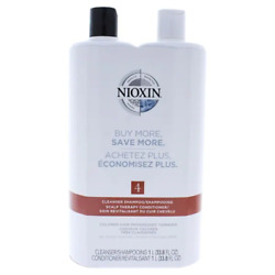 Nioxin System 4 Cleanser And Scalp Therapy Shampoo And Conditioner 33.8oz Duo