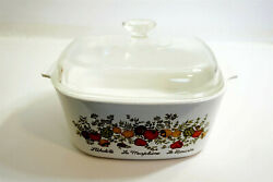 Rare Corning Ware A-5-b Spice Of Life 5 Qt Casserole W/ Bottom Stamp 7 On Front