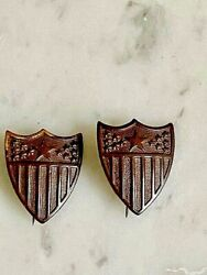 Ww1 Us Army Pair Of Adjutant General Officer's Insignia Pins .rare.orig.