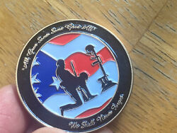 """State Commander Vfw Challange Coin """"we Shall Never Forget"""""""