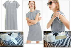 NWT WOMENS J.CREW COZY BEACH STRIPED SWEATSHIRT FEEL COTTON BEACH DRESS SIZE S $44.99