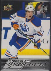 Upper Deck Young Guns Connor Mcdavid 10th Anniversary Tribute Rookie Card Rare