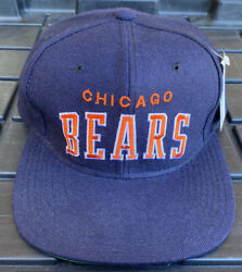 Nwt Vintage 90s Chicago Bears Starter Arch 100 Wool Snapback Hat Cap White Tag