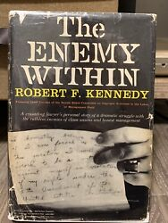 The Enemy Within, Robert F. Kennedy, 1st Edition/1st Issue, Auto - Bobby Kennedy