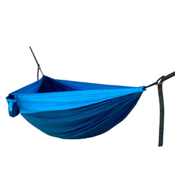 Hidden Wild Double Travel Hammock with Carry Bag Blue Free Shipping