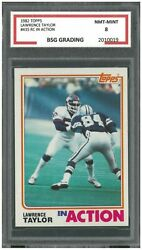 1982 Topps Lawrence Taylor 435 Rookie In Action Bsg 8