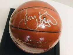 Larry Bird Signed Olympic Molten Jb 77 Basketball. Rare Signed By Larry Legend