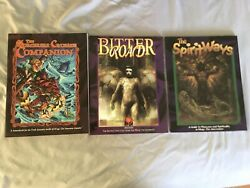 Lot Of 3 White Wolf Books Sorcerers Crusade, Bitter Road, And Spirit Ways