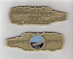 Uss Gerald Ford Navy Ship Figural Ship-shaped Challenge Coin Cvn 78