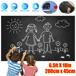 Large Chalkboard Vinyl Wall Sticker Blackboard Removable Home Paint Paper Decal