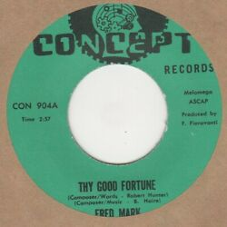 Fred Mark Thy Good Fortune Concept Soul Northern Motown