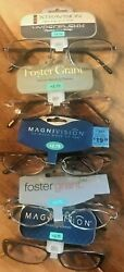Store Closeout 5 Prs Reading Glasses +2.75 New Name Brand A Pair For Every Room
