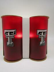 Texas Tech Beverage Tumblers Cups Red And White 20 Oz. Bentley Drink Ware Nib