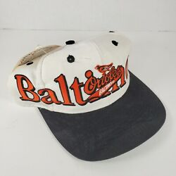 Baltimore Orioles Logo 7 Vintage Snapback Hat Cap Spell Out Shadow Mlb Nos