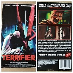 TERRIFIER Art The Clown custom VHS slip cover display tapeamp; card EXTREMELY RARE