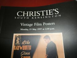 Christie,s Sale Catalog 1997 Vintage Film Posters Pre Owned