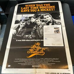 Sylvester Stallone Signed The Lords Of Flatbush 27x41 Original Movie Poster Jsa