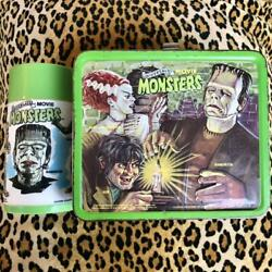 1979 Aladdin Universal Movie Monsters Metal Lunchbox W / Thermos