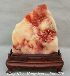 9 Natural Shoushan Stone Carving Old Man People Room Moon Shanzi Statue
