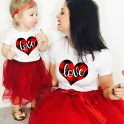 Family Matching T-shirts Clothes Baby Girl Boy Mom Daughter Son Look Outfit Love