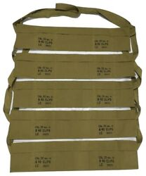 Pack Of 5 Us Army Cotton Cloth Bandolier For M1 Garand - Us Olive Color
