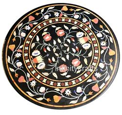 40 Inches Marble Meeting Table Top Patio Coffee Table Inlay Art Christmas Gift
