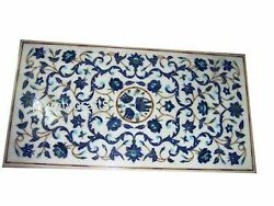 24 X 48 Inches Marble Table Top Lapis Lazuli Stone Coffee Table Christmas Gift