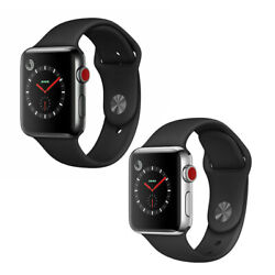 Apple Watch Series 3 - 38mm 42mm Gps Or Cellular Lte Stainless Steel Space Black
