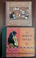 Baby's Opera By Walter Crane C. 1880-1920 Illustrated Nursery Rhymes Lot X 2