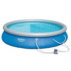 Bestway 15' X 33 Fast Set Inflatable Above Ground Swimming Pool Open Box