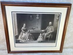 Lt Gen Stonewall Jackson And Family Engraving 1866 Proof Ed By William Sartain