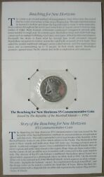 1992 Uncirculated Marshall Islands 5 Dollar Reaching For New Horizons Sealed